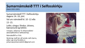 Sumarnámskeið TTT  (10 til 12 ára)